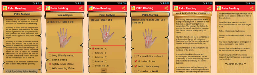Palm reading online guide!